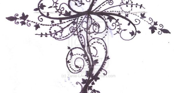 Cross tattoo design by ~Zanie-LArch on deviantART to include in Henna tattoo