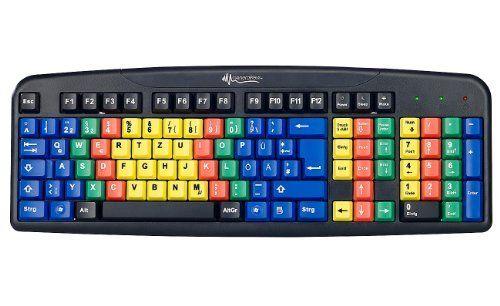 Generalkeys Usb Ubungs Tastatur Mit Farbkodierung Fur 10 Fingersystem 10 Finger System Lernen 10 Finger Schreiben Lernen 10 Finger System