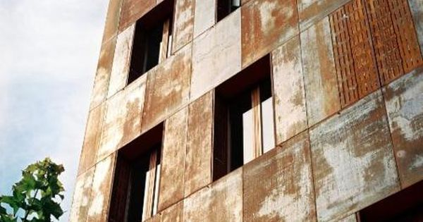 Weathered Corten Steel Facade Architecture Materials
