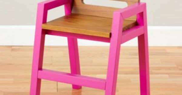 Two Tone Teak Play Chair Magenta The Land Of Nod Childrens Chairs Kids Chairs Kids Table And Chairs