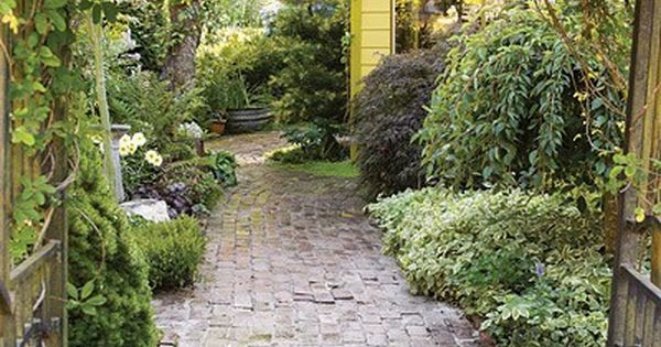 Salvaged brick path