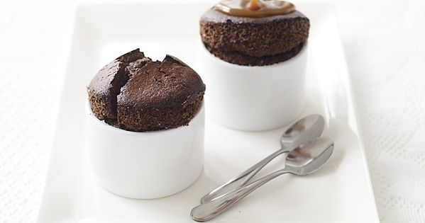 ... nougat whip recipes dishmaps milk chocolate souffles with nougat whip