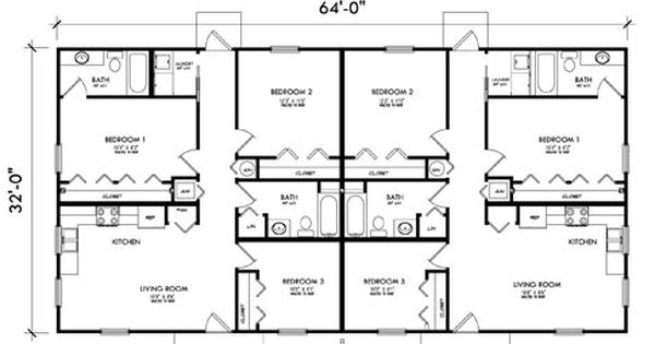Garage apartment plans 3 bedroom building plans multi for Three bedroom duplex house plans