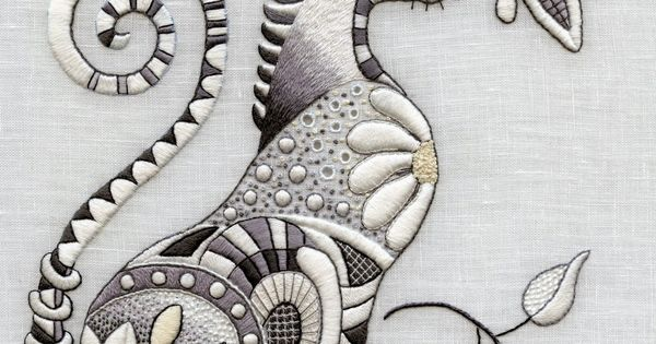 Zentangle doodling to machine embroidery the raspberry