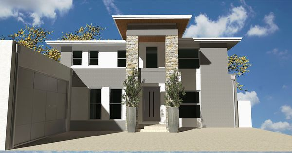 Como 3057 Front Elevation Rendering 2 Storey House For