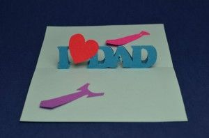 Easy Father S Day Pop Up Card Creative Pop Up Cards Pop Up Card Templates Pop Up Cards Easy Diy Valentine S Day Cards