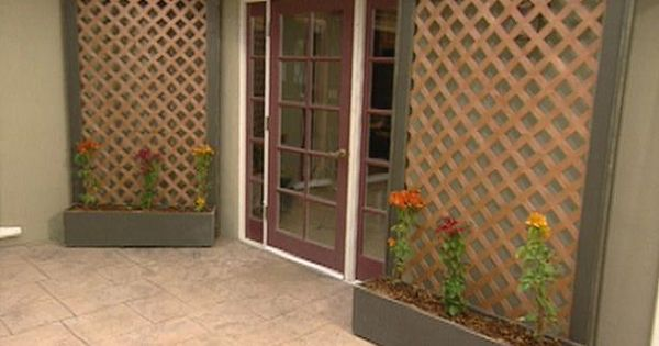 How To Build Lattice Wall Planters Archive Home