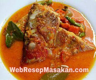 Resep Gulai Kepala Ikan Kakap Merah Padang Resep Masakan Gulai Resep Ikan