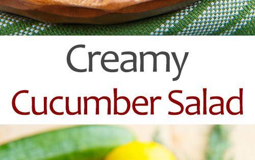 Creamy Cucumber Salad | Recipe | Creamy Cucumber Salad, Creamy ...