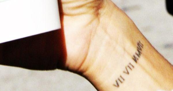 Eva Longoria Roman Numerals Of Birthday On Wrist