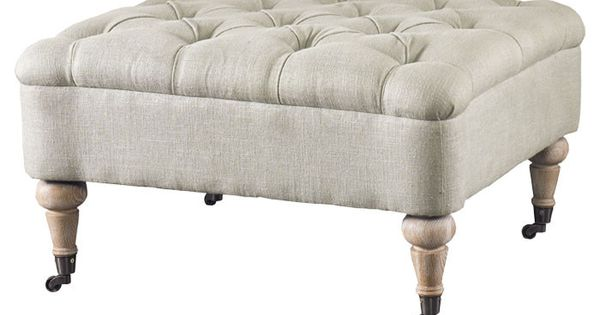 Tufted Ottoman on Casters.