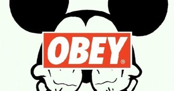 mickey mouse obey wallpaper cerca con google mickey