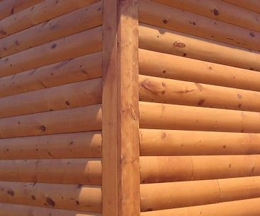 2x6 Boards Are A Simple Log Siding Corner Option Log Cabin Siding Log Siding Siding Prices