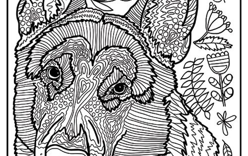 Free Printable German Shepherd Dog Coloring Page Available