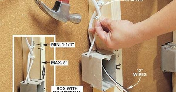 How To Rough In Electrical Wiring Home Electrical Wiring Electrical Wiring Diy Electrical