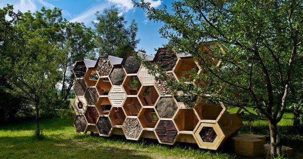 Padiglione in Francia by AtelierD.  Motivo a nido d'ape  Pinterest  Architettura, Casa e ...
