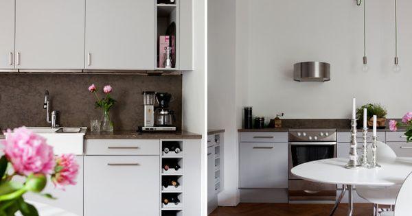 Badrum Comfort Södermannagatan : Smart inbyggd vinhylla kök inspiration