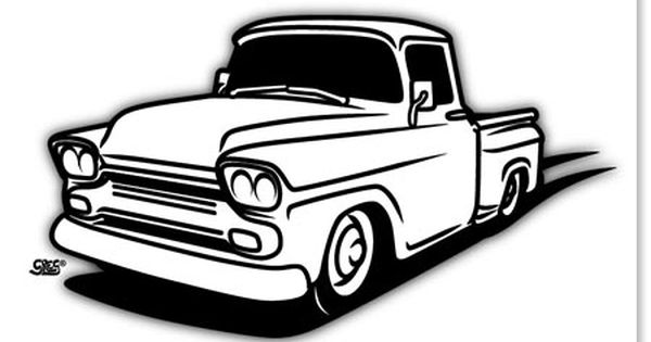 1958 Chevy Truck Drawings Sketch Coloring Page 1958 Chevy Truck Chevy Trucks Chevy