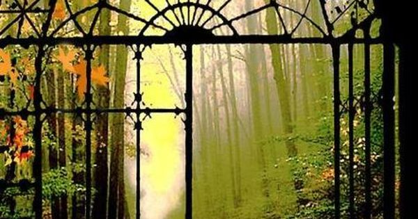 Wrought iron gates to an amazing place in nature...wow, if this place