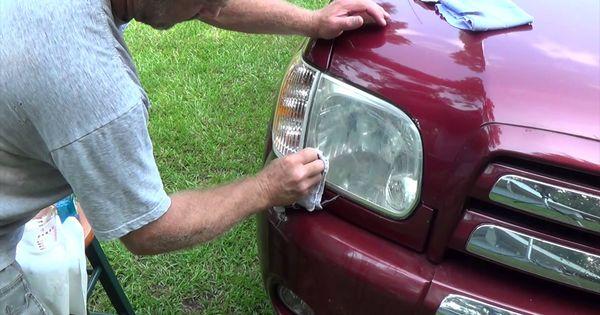 Easily Restore Headlight With Baking Soda And Vinegar