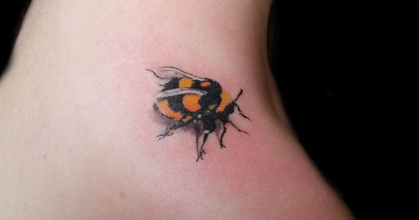 Bumble Bee tattoo by Carl @ Manchester Ink