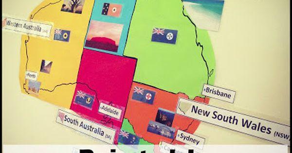 Australia Map Printable Australia map Capital