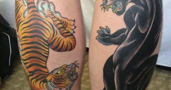 Image result for old school tattoo black panther tree ...