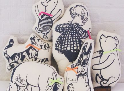 Winnie the Pooh screen printed pillows