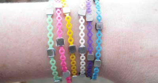 Bracelets Made From Orthodontic Rubber Bands And Brackets Orthodontic Rubber Bands Braces Rubber Bands Orthodontics