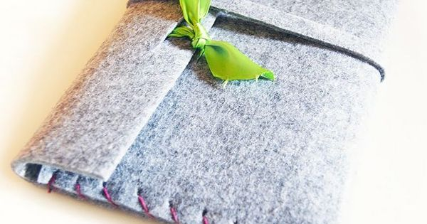 diy anleitung tablet tasche aus dickem filz n hen via. Black Bedroom Furniture Sets. Home Design Ideas