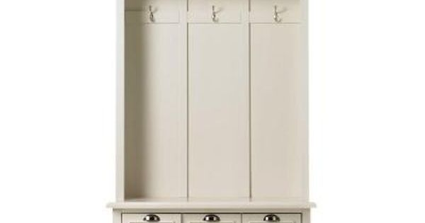 Home Decorators Collection Shutter Polar White Hall Tree Locker Storage And Lockers