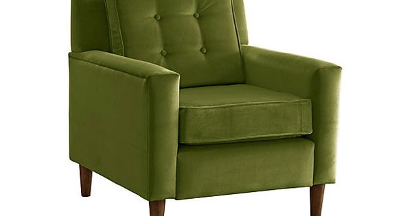 Winston Armchair Velvet Apple Green On Onekingslane Com