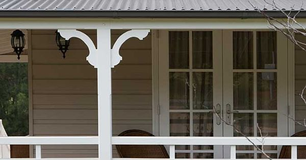 Strongbuild home builders verandahs posts brackets for Exterior house brackets