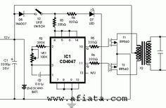 Inverter Circuit Using Cd4047 Electrical Circuit Diagram Circuit Diagram Electronic Schematics