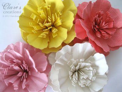 20 Beautiful Paper Flower Tutorials Construction Paper Flowers