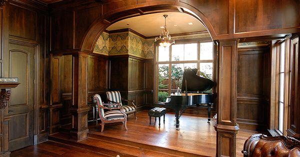 Piano Room   Study   Hawkins-Welwood Homes   Luxury Custom Home ...