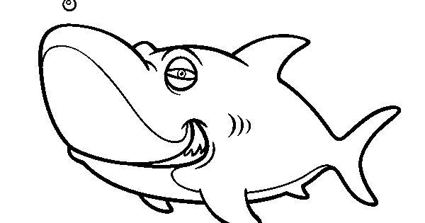 Dibujo De Cachorro De León Para Colorear: Dibujo De Tiburón Tigre Para Colorear