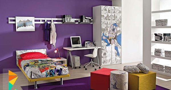 غرف نوم اولاد شباب أحدث موديلات غرف شبابي مودرن لوكشين ديزين نت Purple Kids Rooms Kids Room Design Boy Bedroom Design