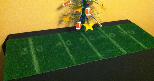 Table runner bought astro turf from lowes 12 ft x 1 ft for 12 ft table runner