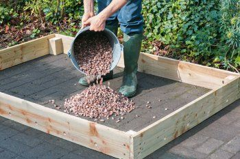 Big Ideas For Little Plots Raised Bed On Concrete Vegetable