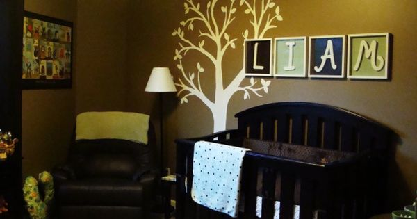 Boy nursery idea. Love the tree decal