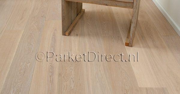 Lebois 14mm dik 19cm breed click parket geborsteld wit geolied parket pinterest - Betegeld wit parket effect ...