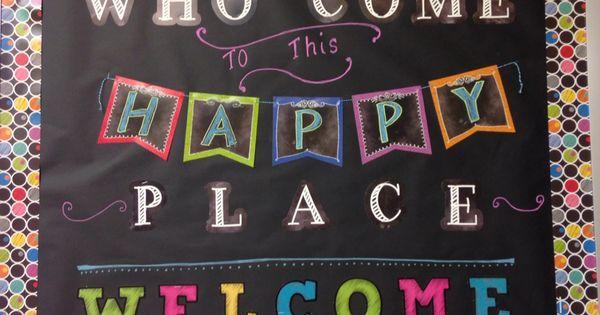 Classroom Design Ideas For Middle School ~ Welcome back to school bulletin board chalkboard