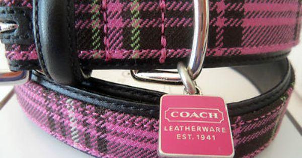 Pink Coach Dog Collar Medium