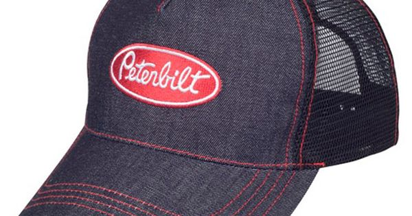 Peterbilt Motors Denim Mesh Snapback Cap