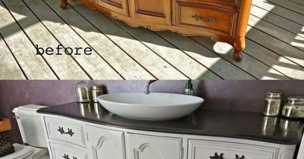 buffet transform en meuble de salle de bain mobilier pinterest buffet de f te. Black Bedroom Furniture Sets. Home Design Ideas