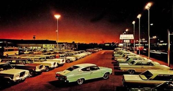 Amc Dealership Mid 1960s Vintage Muscle Cars Classic Chevy Trucks Vintage Cars