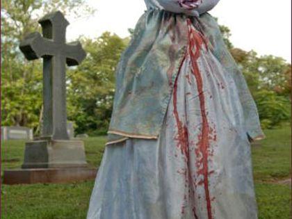 Headless Marie Antoinette Homemade Halloween Costume for Women - Photo 2/2