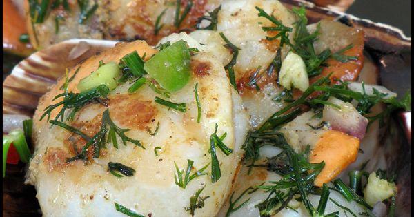 Noix de st jacques la plancha poisson fruits de mer for Poisson a la plancha