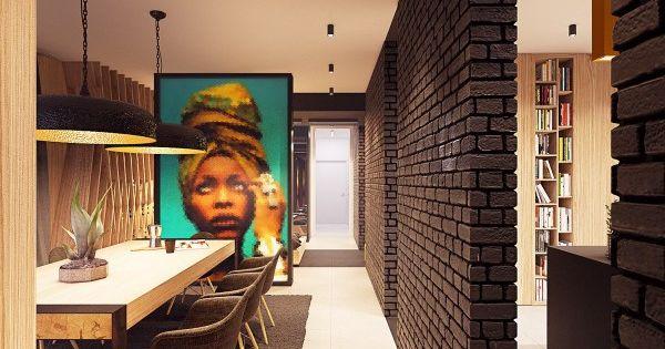 Décoration colorée –accrocheur dans une maison contemporaine ...
